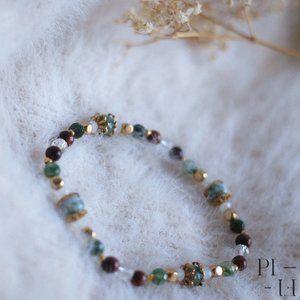 2/50$ bracelet natural agate tiger eye gemstone